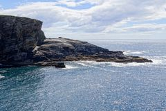 Rocky atlantic shore in Ireland stock photography