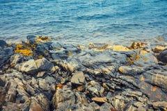 Rocky Atlantic shore of Norway stock photos