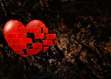 Free Rocky Background With Heart Stock Photos - 87594713