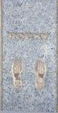 Rocky Balboa, Sylvester Stallone Footprints image libre de droits