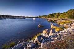 Rocky Baltic Sea coastline Stock Photos