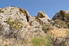 Rocky barren hilltop Royalty Free Stock Images