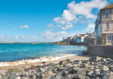 Rocky bay. Rocaky bay at St Ives in Cornwall, UK Stock Images