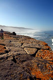 Rocky bay. Rocky shoreline view of the beaches near Sintra, Portugal Royalty Free Stock Photography