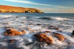 Rocky Bay, côte sud de l'Irlande, Co liège Photo libre de droits
