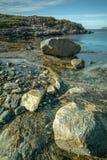 A Rocky Bay on the Norwegian Coast. Royalty Free Stock Photography