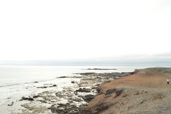 Rocky Bay At Punta Jandia. July 3, 2013. Punta Jandia, Pajara, Fuerteventura, Canary Islands, Spain Europe Landscapes Nature royalty free stock photography
