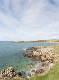 Rocky bays close to Cemaes Bay in Anglesey. North Wales Stock Images