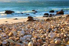 Rocky Beach. Rocks and stones on a beautiful beach Stock Image