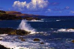 Rocky beach. A rocky beach in Hawaii - Maui royalty free stock photo