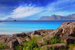 Rocky beach. In northen Norway Stock Image