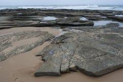 Rocky Beach. Moffat Beach, Sunshine Coast, Australia Royalty Free Stock Photos