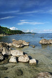 Rocky Beach. Scenic view of a rocky beach in southern part of Guam Stock Photography