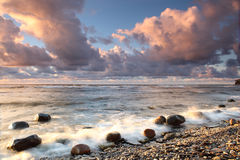 Rocky beach. In Estonia Royalty Free Stock Photos