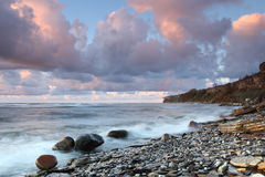 Rocky beach. In Estonia, Paldiski Royalty Free Stock Images