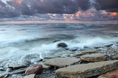 Rocky beach. In Estonia, Paldiski Royalty Free Stock Photography