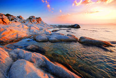 Rocky beach - Portokali (Kavourotripes) Beach Stock Images