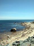 Rocky beach. Along coast of block island RI Stock Photos