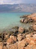 Rocky beach. In Turkey, Cleopatra island near Marmaris Stock Image