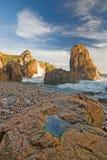 Rocky Beach. Near cape roca, Portugal Royalty Free Stock Photo