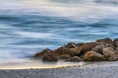 Rocky Beach Abstract Glow - île de trésor, la Floride Image stock