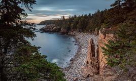 Beach in Acadia National Park in Maine. Rocky Beach in Acadia National Park in Maine royalty free stock image