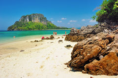 Rocky beach. Andaman sea Royalty Free Stock Photo
