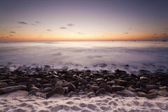 Free Rocky Beach At Sunset Royalty Free Stock Images - 20451189