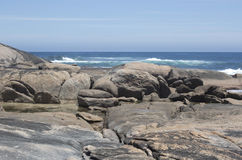 Rocky beach Augusta West Australia in summer Royalty Free Stock Photography