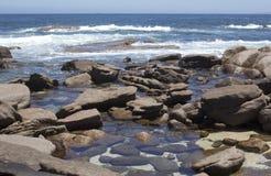 Rocky beach Augusta West Australia in summer Royalty Free Stock Image
