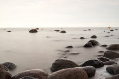Rocky beach in the baltic sea Stock Images