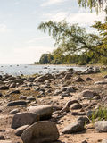 Rocky beach in the baltic sea Royalty Free Stock Photos