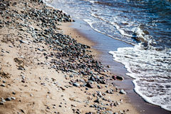 Rocky beach in the baltic sea Royalty Free Stock Photo