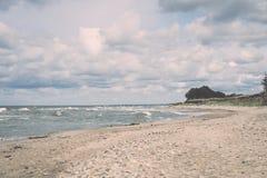Rocky beach in baltic sea Royalty Free Stock Photos