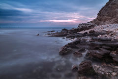 Rocky beach at the Black Sea coast Royalty Free Stock Photos