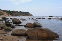 Rocky Beach in Block-Insel Stockbild