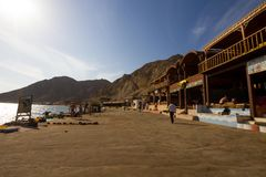 The rocky beach at the Blue Hole, Dahab, Egypt Royalty Free Stock Photos