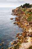 Rocky Beach Boca de Inferno (Mouth of Hell) in Cascais Stock Image
