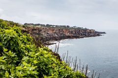 Rocky Beach Boca de Inferno (Mouth of Hell) in Cascais Royalty Free Stock Image