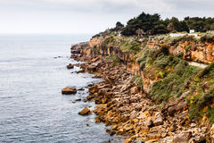 Rocky Beach Boca de Inferno (Mouth of Hell) in Cascais Stock Photos