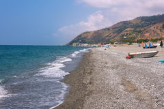 Rocky beach in Campora San Giovani town Royalty Free Stock Images