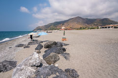 Rocky beach in Campora San Giovani town Royalty Free Stock Image