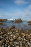 Rocky beach at Cape Agulhas Royalty Free Stock Images