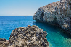 Rocky beach on a Cape Greco Royalty Free Stock Image