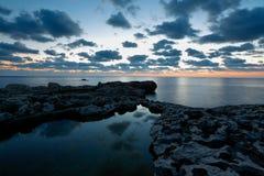 Rocky beach close to Azure Window, Gozo, Malta Royalty Free Stock Image