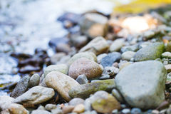 Rocky beach. Close up image of a rocky beach stock images