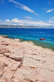 Rocky beach and coastline of Adriatic sea Royalty Free Stock Image