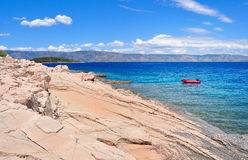 Rocky beach and coastline of Adriatic sea Stock Photography