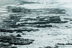 Rocky Beach Coastline Background Detail Stock Images
