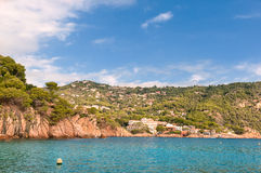 Rocky beach, Costa Brava, Spain Royalty Free Stock Images